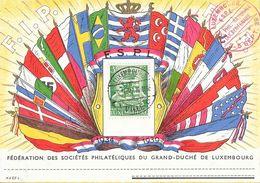 Luxembourg - Fédération Des Sociétés Philatéliques Du Grand Duché - F.I.P. 1934-1939 - F.S.P.L. Drapeaux - Luxembourg
