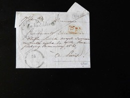 LETTRE DE ROUEN POUR PARIS  -  1843  - - 1801-1848: Précurseurs XIX