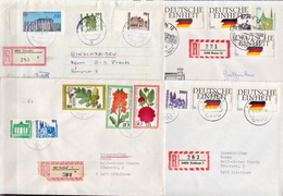 Postal History: Germany 4 R Covers With Mixed Germany, Berlin And DDR Stamps - [7] Federal Republic