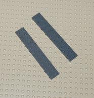 Lego 2x Plate Gris Brun 2x12 Ref 2445 - Lego Technic