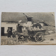 GANSHOREN, LAITIERE FLAMANDE -  Envoyée 23-02-1915 Par Soldat Allemand De Alost - Marchands Ambulants