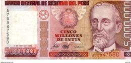 Peru P.149 5000000 Intis 1990  Xf - Peru
