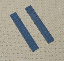 Lego 2x Plate Gris Foncé 2x12 Ref 2445 - Lego Technic