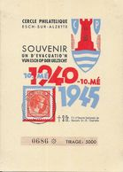 Luxembourg - Souvenir Un D'Evacuation VunEsch Op Der Uelzecht 1940-1945 - Cercle Philatélique Esch-sur-Alzette - Briefe U. Dokumente