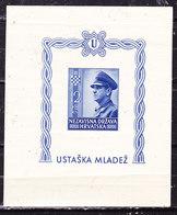 Croazia 1943 Foglietto  Nuovo MLLH Pieghetta - Croatie