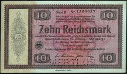 GERMANY - 10 Reichsmark 28.08.1933 {Perforated: WERTLOS} AU-UNC P.200 / DEU-225 E2 - [ 4] 1933-1945 : Tercer Reich
