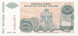 Croatia 5.000.000  Dinara 1993. UNC P-R24 - Croatie