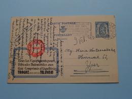 Briefkaart ( TRAGAZ 2 Bd De Dixmude > Publibel 486 ) Anno 1943 ( Zie Foto ) ! - Publicité