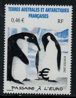 T.A.A.F. // 2002 //  No.348 Y&T Neuf** Passage à L'Euro, Couple De Manchots - Neufs