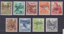 SUISSE SERVICE 1944: Courrier Du  BIE, ZNr 1-9 (série Complète), Neufs** - Dienstpost