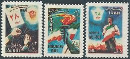 PERSIA IRAN PERSE 1954 Return Of The Royalist Government,MNH- Scott:990/92 - Value 65,00 - Iran
