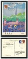 FRANCE 1955 - Vélo Cyclisme Cycling Tour De France 1955 Superbe Carte Illustrée VAN DONGEN étape De TOURS 29/7/1955 - Cyclisme