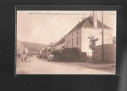 C.P.A. DE L.HOTEL POMPANON ET ROUTE DE CLUNY A SALORNAY.SUR.GUYE 71. - France