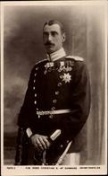 Cp Roi Christian X. Von Dänemark, Standportrait In Uniform - Familles Royales