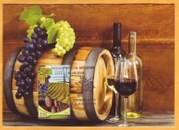 2018 Moldova Moldavie Moldau Maxicard  Wine Tourism. Wine. Grapes. Vineyard. Wine Barrel - Moldawien (Moldau)