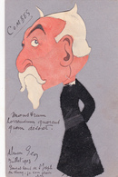 CPA Découpi Ajouti Collage Feutrine Caricature Satirique Abée COMBES Cornes Diable Devil (2 Scans) - Personnages
