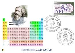 DZ Algeria 1836 - 2019 Anno Internazionale Della Tavola Periodica Degli Elementi Chimici Dmitry Mendeleev Chimica - Chimica
