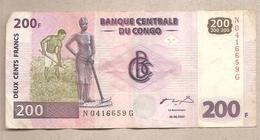 Rep. Dem. Congo - Banconota Circolata Da 200 Franchi P -95a1 - 2000 - Repubblica Democratica Del Congo & Zaire