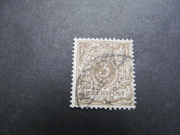 DR Nr.  45cb, 1889, Krone Du Wertziffer, Gestempelt, BPP Geprüft, BS - Oblitérés