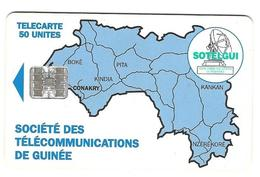 Télecarte Sotelgui Guinée 50 Unités Bleu - Guinee