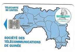 Télecarte Sotelgui Guinée 50 Unités Bleu - Guinée