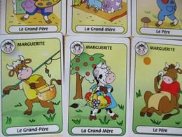 JEU DE CARTES DES SEPT 7 FAMILLES ANIMAUX DE LA FERME COCHON MOUTON VACHE LAPIN POULE OIE CANARD PHONOGRAPHE - Cartes à Jouer Classiques
