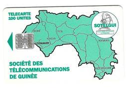 Télecarte Sotelgui Guinée 100 Unités Vert - Guinea