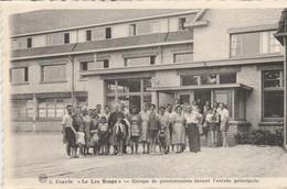 """Coxyde , Koksijde:"""" Le Lys Rouge """"pensionnaires Entrée Principale ; (vacances Femmes Socialistes Prévoyante Du Borinage - Koksijde"""