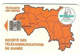 Télecarte Sotelgui Guinée 150 Unités Orange - Guinee