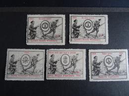 5 Vignettes Delandre/Cinderella 1914-1916 Grande Bretagne - Mentions En Français - MNH Etat Neuf VOIR - Erinnofilia
