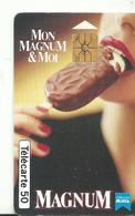 Telecarte Publicite Magnum - Advertising