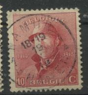 168.A Ø Très Beau  10c Roi Albert Casqué Venant Des Petites Feuilles  Ø NAMUR 1919 - Oblitérés