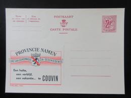 ENTIER CP PUBLIBEL 1959 PROVINCIE NAMEN . COUVIN    . NEUF - Publibels