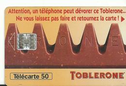 Telecarte Publicite Toblerone - Advertising