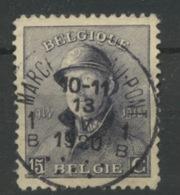 169 Ø Très Beau  15c Roi Albert Casqué   Ø MARCHIENNE AU PONT - Usados
