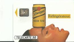 Telecarte Publicite Schweppes - Advertising