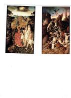 Lot 2 Cpm - DIRCK BOUT - La Chute Des Damnés - Chemin Du Paradis - Homme Nu Monstre Ange Femme Seins Nus Chauve-souris - Malerei & Gemälde