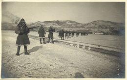 China, PORT ARTHUR (?), Japanese (?) Soldiers Shooting (1910s) RPPC Postcard - China