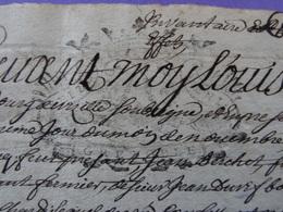 1735 Grenoble (Isère) Papier Timbré N°178 De 16 Deniers Inventaire Jamais Vu Bien Frappé - Seals Of Generality
