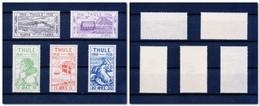 THULE Thulé (Groenland) : 5 Valeurs De L'émission De 1935/36 N° YT 1/5 Neufs Sans Charnière MNH ** - Thule
