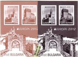 2012 Europa – Visit Bulgaria  2 S/S- Missing Value BULGARIA / BULGARIE - Europa-CEPT