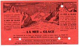 Ticket Chemin De Fer Biljet Billet  Mer De Glace Depart  Gare De Montenvers à Chamonix - Titres De Transport