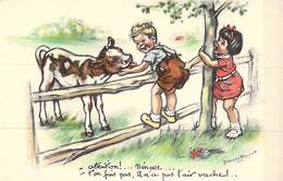 CPA Illustrateur Enfant - Germaine  BOURET - Attention Nénesse - Ilustradores & Fotógrafos