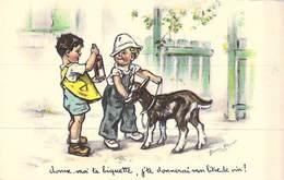 CPA Illustrateur Enfant - Germaine  BOURET - Donne Moi Ta Piquette - Illustratori & Fotografie