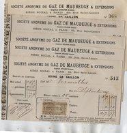VP15.201 - Lot De 11 Quittances - Société Du Gaz De MAUBEUGE - Usine De GAILLON - Electricity & Gas