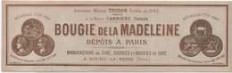 Etiquette/Bougie  La Madeleine/BOURG La REINE/Manufacture De Cire Cierges Bougies/Vieillemard/Vers 1900-1920 ETIQ 169bis - Advertising