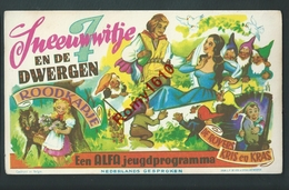 Affichette De Cinéma En Neerlandais. . Blanche Neige Et Les 7 Nains.  2 Scans. - Posters