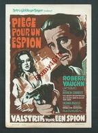 Affichette De Cinéma. Piège Pour Un Espion. Metro Goldwyn -Mayer. 2 Scans. - Affiches