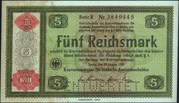 GERMANY - 5 Reichsmark 28.08.1933 (1934) {Perforated: ENTWERTET} AU-UNC P.207 / DEU-232 E1 - 5 Reichsmark