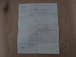 LETTRE VILLE D' EVREUX LE MAIRE 1826 - Historische Dokumente